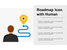 Roadmap Icon With Human