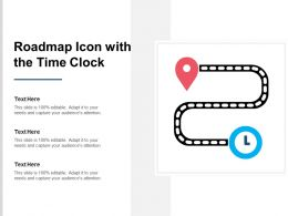 Roadmap Icon With The Time Clock