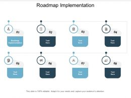 Roadmap Implementation Ppt Powerpoint Presentation Show Diagrams Cpb