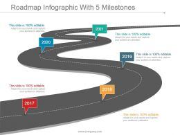 Roadmap Infographic With 5 Milestones Presentation Design
