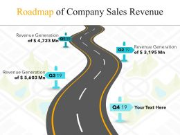Roadmap Of Company Sales Revenue