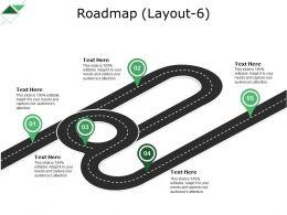 Roadmap Powerpoint Slide Clipart