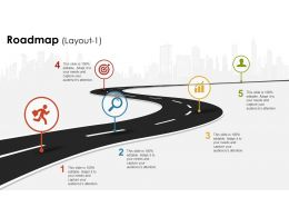 template free roadmap slide team