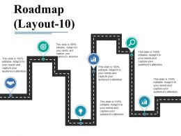 Roadmap Ppt Visual Aids Infographic Template