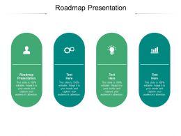 Roadmap Presentation Ppt Powerpoint Presentation Icon Cpb