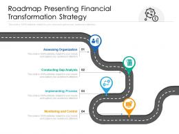 Roadmap Presenting Financial Transformation Strategy
