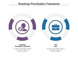 Roadmap Prioritization Framework Ppt Powerpoint Presentation Model Mockup Cpb