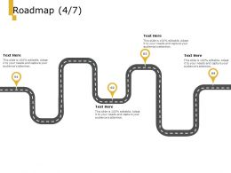 Roadmap Process A1004 Ppt Powerpoint Presentation Layouts Icons