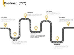 Roadmap Process A1007 Ppt Powerpoint Presentation Icon Sample
