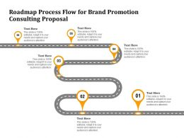 Roadmap Process Flow For Brand Promotion Consulting Proposal Ppt Powerpoint Presentation