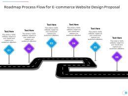 Roadmap Process Flow For E Commerce Website Design Proposal Ppt Powerpoint Presentation