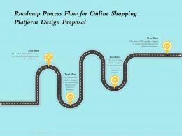Roadmap Process Flow For Online Shopping Platform Design Proposal Ppt Powerpoint Outline