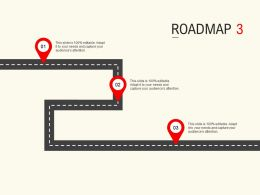 Roadmap Process Three L537 Ppt Powerpoint Presentation Pictures Example Topics