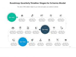 Roadmap Quarterly Timeline Stages For Schema Model Infographic Template
