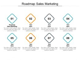 Roadmap Sales Marketing Ppt Powerpoint Presentation Icon Guidelines Cpb