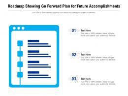 Roadmap Showing Go Forward Plan For Future Accomplishments