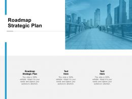 Roadmap Strategic Plan Ppt Powerpoint Presentation Show Cpb