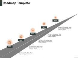 Roadmap Template 2016 To 2020 N69 Powerpoint Presentation Design Inspiration
