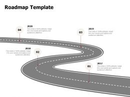 Roadmap Template 2017to 2020 N78 Powerpoint Presentation Graphic Images