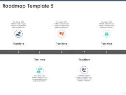 Roadmap Template 5 Capture M216 Ppt Powerpoint Presentation Model Aids