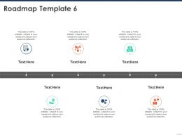 Roadmap Template 6 M217 Ppt Powerpoint Presentation Outline Grid