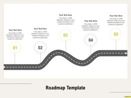 Roadmap Template Adapt M686 Ppt Powerpoint Presentation Visual Aids Show