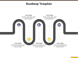 Roadmap Template Audiences Attention Product Growth Unlock Ppt Guidelines