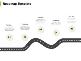 Roadmap Template Five Step N35 Ppt Powerpoint Presentation Outline Tips