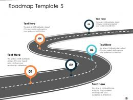 Roadmap Template Five Step Process Technology Disruption In HR System Ppt Clipart