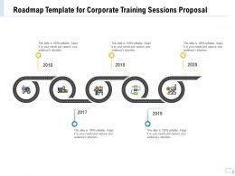 Roadmap Template For Corporate Training Sessions Proposal Ppt Templates