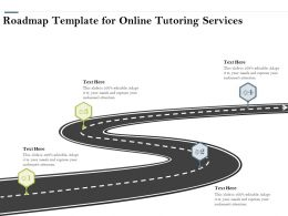 Roadmap Template For Online Tutoring Services Ppt Powerpoint Presentation Gallery Outfit