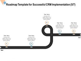 Roadmap Template For Successful CRM Implementation Audience Ppt Powerpoint Visual