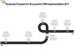 Roadmap Template For Successful CRM Implementation Capture Ppt Powerpoint Portfolio