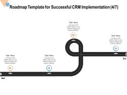 Roadmap Template For Successful CRM Implementation End Ppt Powerpoint Presentation File