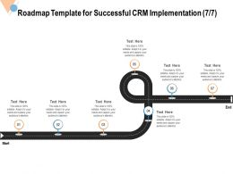 Roadmap Template For Successful CRM Implementation Needs Ppt Powerpoint Presentation File Master