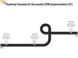 Roadmap Template For Successful CRM Implementation Start Ppt Powerpoint Presentation File