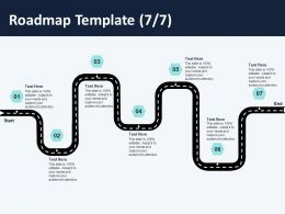 Roadmap Template L1413 Ppt Powerpoint Presentation Model