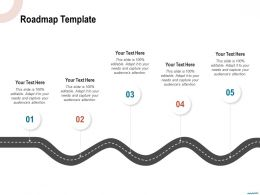 Roadmap Template M1134 Ppt Powerpoint Presentation Inspiration Icon