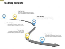 Roadmap Template Pitch Deck Raise Funding Pre Seed Money Ppt Infographics