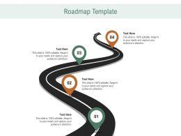 Roadmap Template R691 Ppt Powerpoint Presentation Slides Master Slide