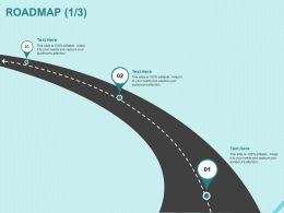 Roadmap Three Process C1216 Ppt Powerpoint Presentation Model Format