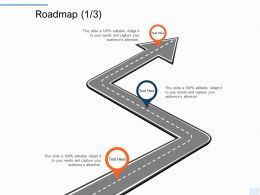 Roadmap Three Stage L1215 Ppt Powerpoint Presentation Summary Vector