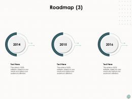 Roadmap Three Stage Process Ppt Powerpoint Presentation Show Guidelines