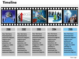 Roadmap Timeline Diagram For Business Concept 0314