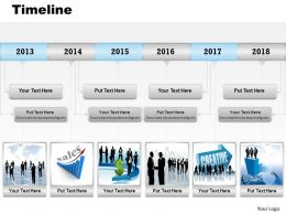 Roadmap Timeline Diagram For Sales Record 0314