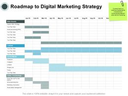 Roadmap To Digital Marketing Strategy Assets Ppt Powerpoint Presentation Infographics