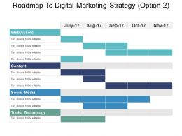 Roadmap To Digital Marketing Strategy Option 2 Ppt Examples