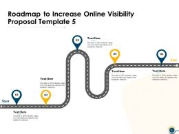 Roadmap To Increase Online Visibility Proposal Template Ppt Powerpoint Presentation Show