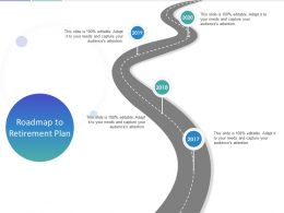 Roadmap To Retirement Plan Ppt Powerpoint Presentation Portfolio Microsoft
