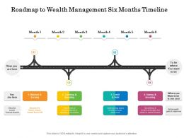 Roadmap To Wealth Management Six Months Timeline